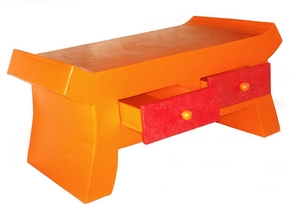 table basse orange pop