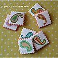 Biscuits paisley des années 60