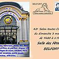 Annonce du 42e Salon Toutes Collections, le 3 mai 2020 à Belfort