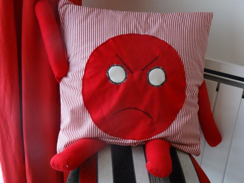 coussin de la colère Coussin de la colère