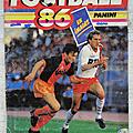 Album ... football panini 1986 * complet