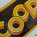 Objet pub ... coop (1955) * plaque émaillée