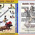 Sortie du DVD de la FERIA 2019 de BEZIERS
