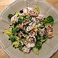 Salade de <b>crevettes</b> croustillante