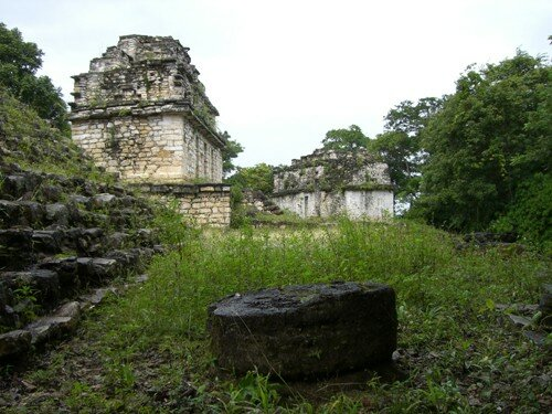 Yaxchilan - Side View of Building 13 and 12 of the South Acropolis
