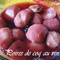 Poires de coq au vin