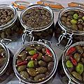 Conserves d'olives vertes en saumure