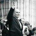François Mitterrand, lors de la cérémonie d'investiture au Panth