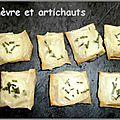 Croustillants chèvre et artichauts de demarle