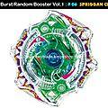 Beyblade Burst # 06 Spriggan <b>Central</b> Accele - <b>B</b>-15 Random Booster Volume 1 Trident Heavy Claw