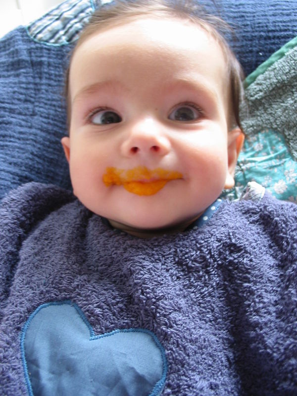 6 mois! carrots day!