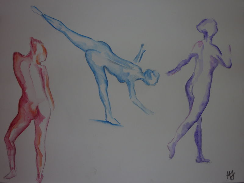 Danseuses à l'aquarelle , numéro 2