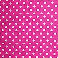 Tissu rose à pois blanc