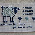 cache cache fleurs et moutons pour Nadine