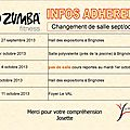 Zumba_changement de salle septembre/octobre 2013