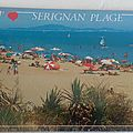 Serignan plage datée 1991