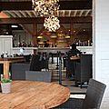 Florent Ladeyn TopChef 2013, Auberge du Vert Mont, vue sur la salle principale depuis ma table dans la petite salle