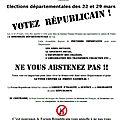 Allons voter dimanche pour les élections départementales