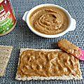 Tartinade allégée à la mesquite à 40 kcal (diététique, hypocalorique, végane, crue, sans gluten, sans sucre et riche en fibres)
