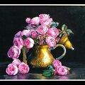 Théière de roses anglaise
