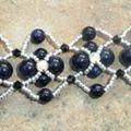 bracelet archipel pierre de soleil bleue 2