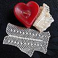 gants au crochet faits main