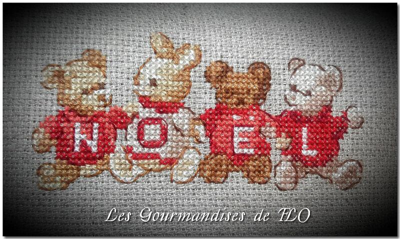 coussinet oursons Noël 2
