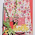 Une carte fleurie et un sac pour partir en balade