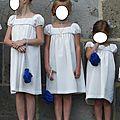 Neuf robes antonine en plumetis pour un cortège de mariage