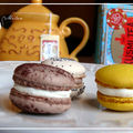 Macarons menthe-chocolat, framboise et citron confit