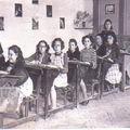 Ecole communale de Ste-Foy, classe de Melle Toreille, vers 1955