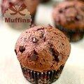 Muffins au chocolatterriblement moelleux & tellement bon