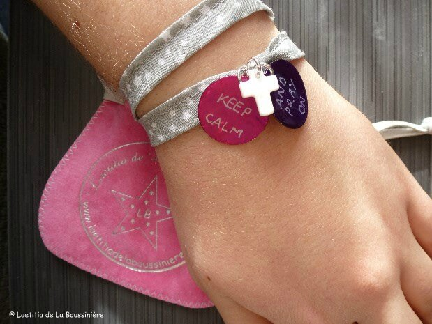 Le bracelet Keep Calm & Pray on de Maïlys