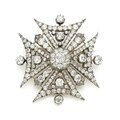 A diamond Maltese cross pendant-brooch, <b>circa</b> <b>1825</b>