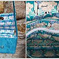 PETIT SAC BANDOULIERE TURQUOISE INTERIEUR GROUPE