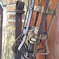 <b>Torchères</b> de style médiéval en ferronnerie d'art...