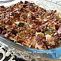 Crumble de courgettes et aubergines aux noix du brésil