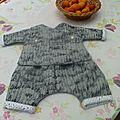 Ensemble <b>sarouel</b>/kimono réversible pour bébé Paul