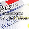 <b>Permanence</b> Inscriptions <b>liste</b> éléctorale