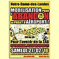 Notre-dame-des-landes, 27 février 2016 : mobilisation générale.