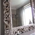 Miroir manguier sculpte