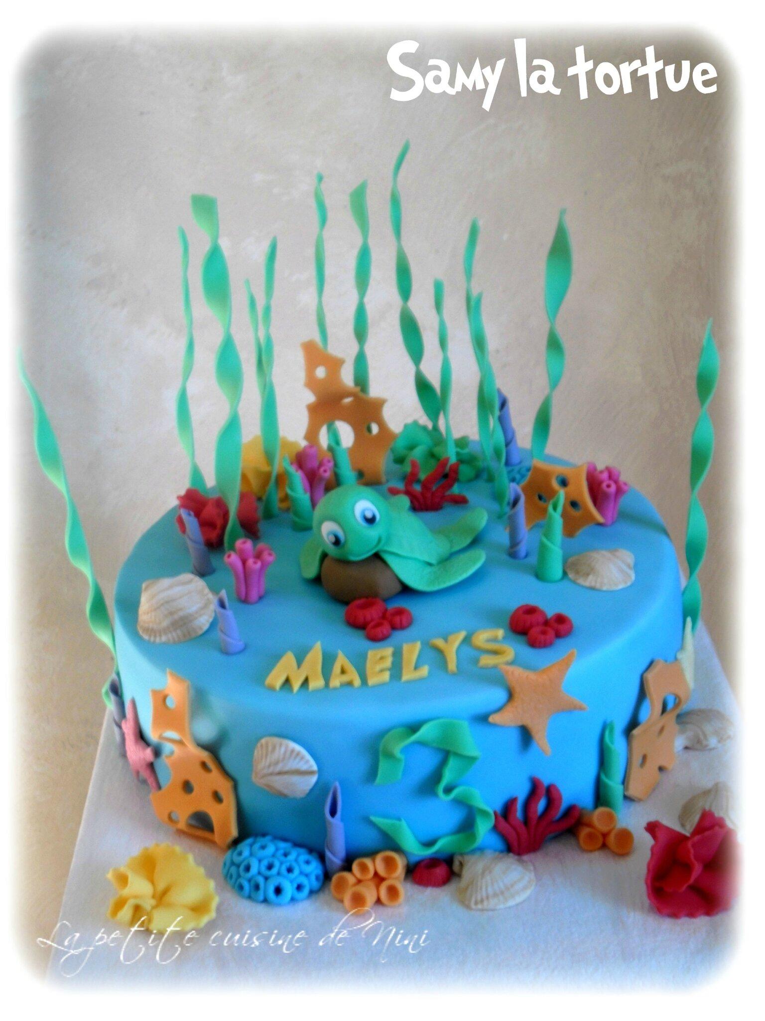 """Gâteau d'anniversaire """"Samy la tortue"""""""