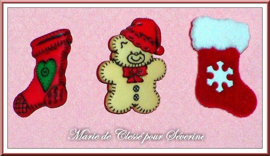 Echange boutons Noël Chez Manou60 Marie de Clessé pour Séverine 2