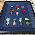 <b>Encadrement</b> Médailles Militaires Françaises