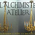 Restauration et nettoyage d'un lustre en bronze doré