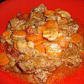 Boeuf braisé aux carottes, au bourgogne aligoté et au chorizo