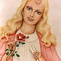 Lady nada, chohan du 6e rayon rubis et or