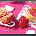 Mug cake fraise vanille