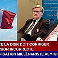 En France la DIDR doit corriger <b>l</b>'expression incorrecte « <b>L</b>'organisation millénariste Almighty God »