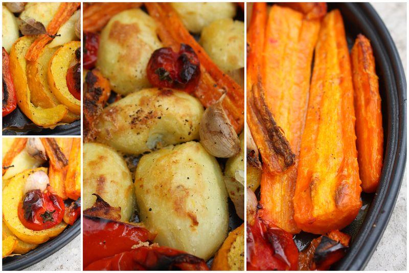 Légumes du potager rôtis